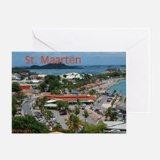 St. Maarten-Downtown by Khonc Greeting Card