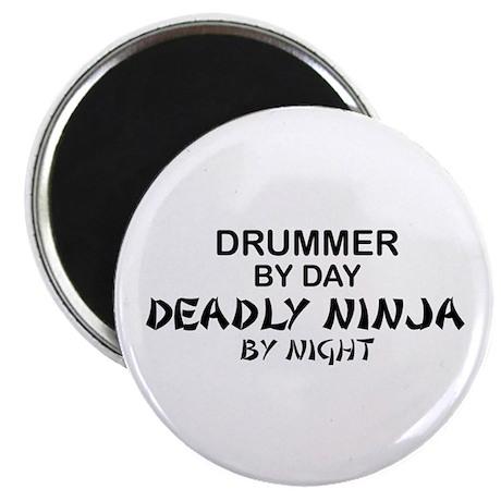 Drummer Deadly Ninja Magnet