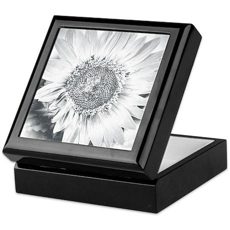 Grayscale Sunflower Keepsake Box