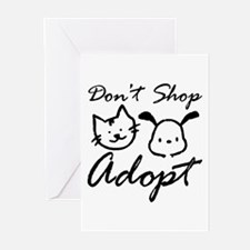 Don't Shop, Adopt Greeting Cards (Pk of 20)