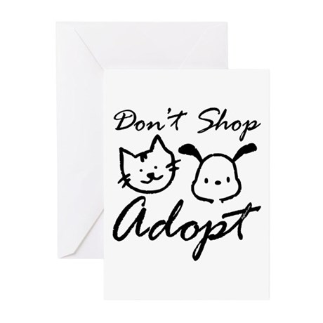 Don't Shop, Adopt Greeting Cards (Pk of 10)