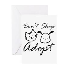 Don't Shop, Adopt Greeting Card