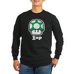 1up Mushroom Long Sleeve Dark T-Shirt