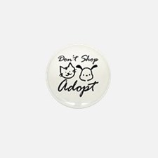Don't Shop, Adopt Mini Button (10 pack)