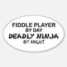Fiddle Player Deadly Ninja Oval Decal
