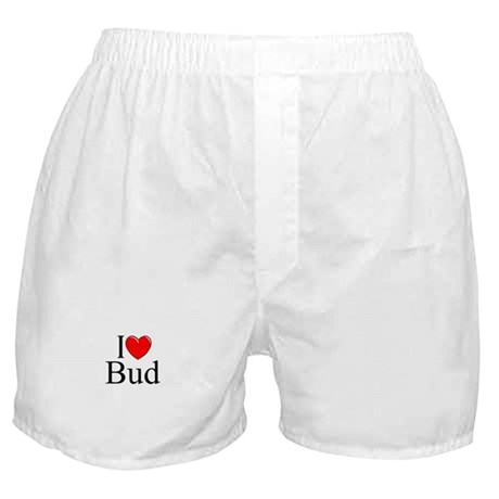 """I Love (Heart) Bud"" Boxer Shorts"