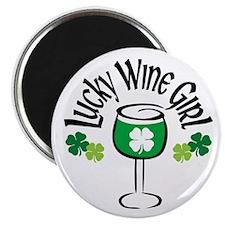 Lucky Wine Girl Magnet