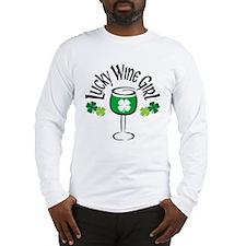 Lucky Wine Girl Long Sleeve T-Shirt