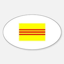 South Vietnam (1975) Oval Decal