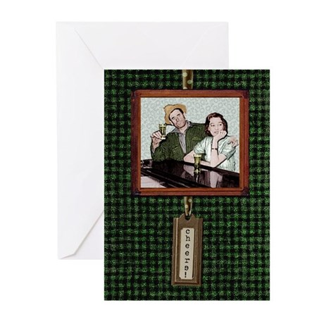 cheers/slainte bar couple Greeting Cards (20pk)