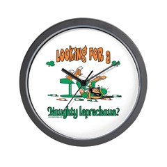 Naughty Leprechaun Wall Clock