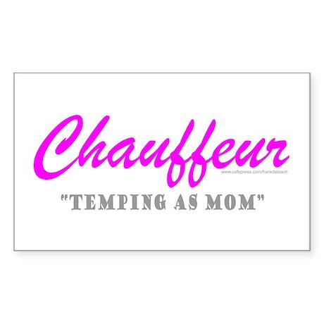 CHAUFFEUR MOM Rectangle Sticker