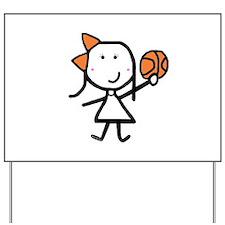 Girl & Basketball Yard Sign