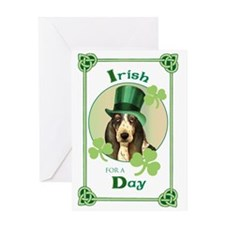 St. Patrick Basset Greeting Card
