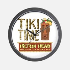 Hilton Head Tiki Time - Wall Clock