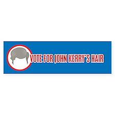 John Kerry's Big Hair Bumper Bumper Sticker