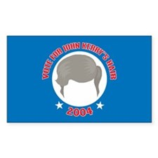 John Kerry's Big Hair Rectangle Decal