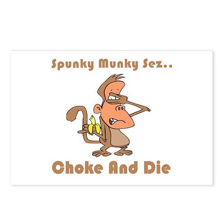 Choke and Die Postcards (Package of 8)