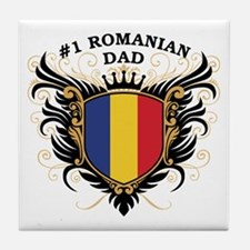 Number One Romanian Dad Tile Coaster