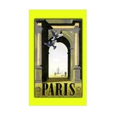 Paris Arc de Triomphe Art Rectangle Decal