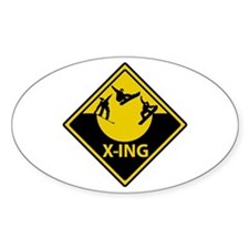 Half Pipe X-ING Oval Bumper Stickers
