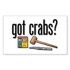 """got crabs?"" Rectangle Decal"