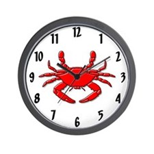 """Red Crab"" Wall Clock"