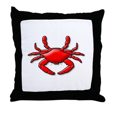 """Red Crab"" Throw Pillow"