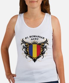 Number One Romanian Aunt Women's Tank Top