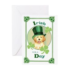 St. Patrick Golden Retriever Greeting Card