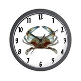 Blue crab Wall Clocks