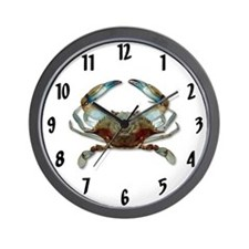Cute Blue crab crabs size Wall Clock