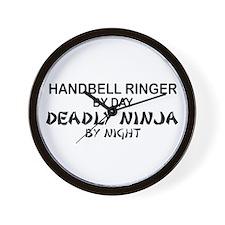 Handbell Ringer Deadly Ninja Wall Clock