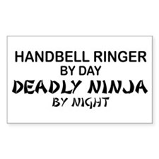 Handbell Ringer Deadly Ninja Rectangle Decal