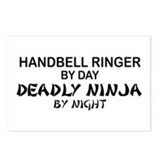 Handbell Ringer Deadly Ninja Postcards (Package of