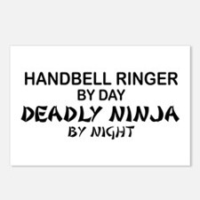 Handbell Ringer Deadly Ninja Postcards (Package of