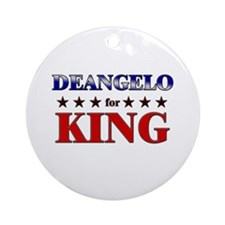 DEANGELO for king Ornament (Round)