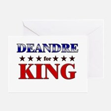 DEANDRE for king Greeting Card
