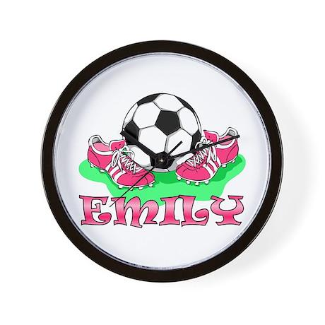 Girl Soccer (Emily) Wall Clock