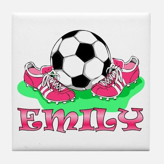 Girl Soccer (Emily) Tile Coaster