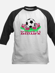 Girl Soccer (Emily) Kids Baseball Jersey