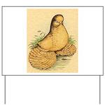 Muffed Tumbler Pigeon Yard Sign