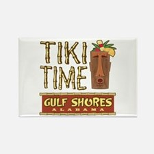 Gulf Shores Tiki Time - Rectangle Magnet