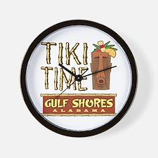 Gulf Shores Tiki Time - Wall Clock
