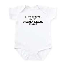 Lute Player Deadly Ninja Infant Bodysuit