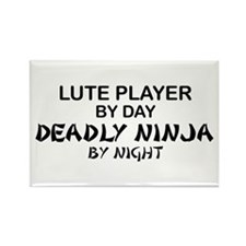 Lute Player Deadly Ninja Rectangle Magnet
