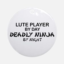 Lute Player Deadly Ninja Ornament (Round)