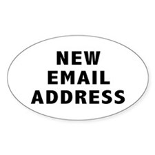 New Email Address Oval Decal