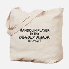 Mandolin Player Deadly Ninja Tote Bag