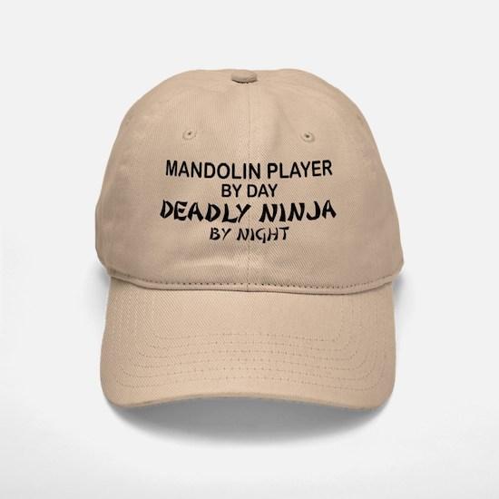 Mandolin Player Deadly Ninja Baseball Baseball Cap